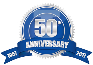 Celebrating 50 years of business.
